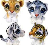 24 Units of Plush Velvet Jungle Cats - Plush Toys