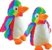 12 Units of Plush Rainbow Penguins - Plush Toys