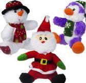 24 Units of Plush Christmas Assortments - Christmas Novelties