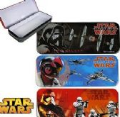 96 Units of Metal Star Wars Pencil Boxes - Pencil Boxes & Pouches