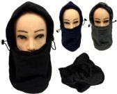 48 Units of Winter Hat Scarf Fleece Ski Mask Head Cover - Unisex Ski Masks