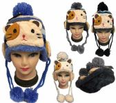 12 Units of Kid's Cat Knitted Winter Hat - Winter Animal Hats
