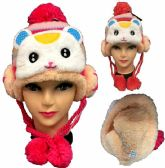 12 Units of Kid's Rabbit Knitted Winter Hat - Winter Animal Hats