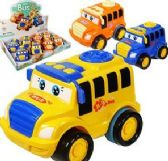 48 Units of Friction Powered Cute School Busses - Cars, Planes, Trains & Bikes
