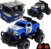 12 Units of Remote Control Compact Monster Police Trucks - Cars, Planes, Trains & Bikes