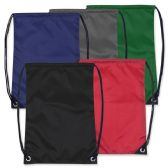 48 Units of Kids 15 Inch Promo Drawstring Bag - 5 Colors - Draw String & Sling Packs