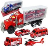 12 Units of Five Piece Friction Powered Windstorm Max Trucks - Cars, Planes, Trains & Bikes