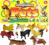 72 Units of Ten Piece Animal World Vinyl Dog Sets - Animals & Reptiles
