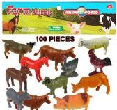 16 Units of Hundred Piece Animal World Farm Animal Sets - Animals & Reptiles