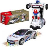 12 Units of Robot Cars With Lights And Sound - Action Figures & Robots