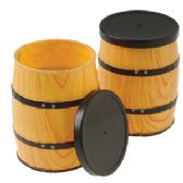72 Units of Mini Western Barrel Containers - Party Favors