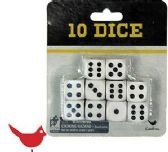 48 Units of Cardinal Ten Pack Gaming Dice - Playing Cards, Dice & Poker