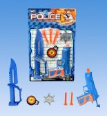 48 Units of Police Gun Set In Blister Card - Toy Weapons