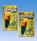 96 Units of Western Gun In Blister Card - Toy Sets