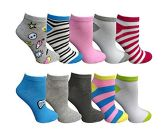 Yacht&Smith 10 Pairs Womens Low Cut Ankle Socks, Cute Patterned Design (Patterned F) - Womens Ankle Sock