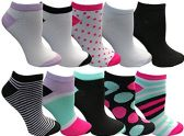 Yacht&Smith 10 Pairs Womens Low Cut Ankle Socks, Cute Patterned Design (Patterned K) - Womens Ankle Sock