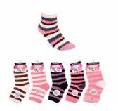 36 Units of Womens Soft Fuzzy Socks Stripe Design Size 9-11 - Womens Fuzzy Socks