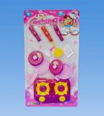 72 Units of Cooking Set In Blister Card - Girls Toys