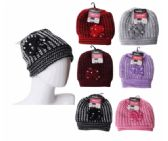 24 Units of Winter Warm Beanie With Faux Fur Lining - Fashion Winter Hats