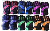 12 Pairs Of Kids SOCKSNBULK Thermal Sport Winter Warm Ski Gloves - Ski Gloves