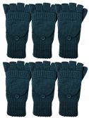 Yacht & Smith Mens Womens, Warm And Stretchy Winter Gloves (6 Pack Turquoise) - Store