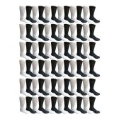 Value Pack excell Wholesale Bulk Crew, Cotton Basic Sport Socks for Men Women Kids (72 Pairs Assorted, Mens 10-13 (Shoe Size 7-12)) - Mens Crew Socks