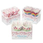24 Units of Baking Cups Fluted Mini Valentine - Valentine Decorations