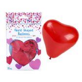 48 Units of Balloons Heart Shape Latex - Valentine Decorations