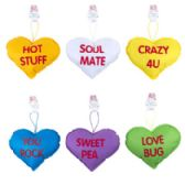 96 Units of Conversation Heart Pillow - Valentine Decorations