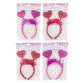 36 Units of Headband Valentine W/heart Shape - Valentine Decorations