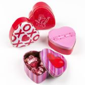 48 Units of Heart Tin Box - Valentine Decorations