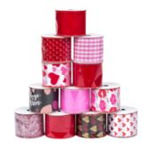 48 Units of Ribbon Wire Valentine - Valentine Gift Bag's