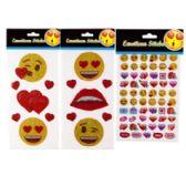 48 Units of Stickers Emoticon - Valentine Decorations