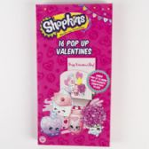 28 Units of Valentine Cards 16ct Shopkins Pop Up - Valentine Gift Bag's