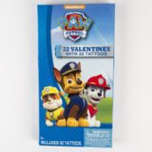 28 Units of Valentine Cards 32ct Paw Patrol W/tattoos *2.99* Boxed - Valentine Gift Bag's