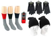 180 Units of Adult Merino Wool Combo - Hats, Gloves, and Socks Includes - Winter Sets Scarves , Hats & Gloves