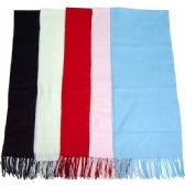 144 Units of Cashmere Winter Scarf Unisex Assorted Solid Colors - Winter Scarves