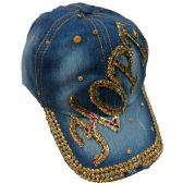 "12 Units of Ladies Sparkly ""HOPE"" Printed Jean Hats in Assorted Colors - Hats With Sayings"