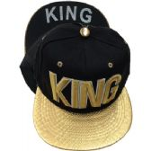 "24 Units of ""KING""-Assorted Color Snapback Caps - Hats With Sayings"