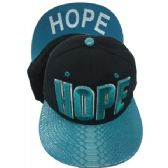 "24 Units of ""HOPE""-Assorted Color Snapback Caps - Hats With Sayings"