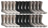 SOCKS'NBULK Men's Sports Crew Socks, Wholesale Bulk Pack Athletic Socks (24 Pack Mix) - Mens Crew Socks