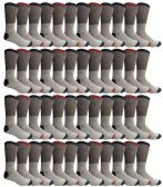 60 Pairs of Thermal Socks, Bulk Pack Thick Warm Winter Boot Sock, Extreme Weather, Mens & Womens (10-13 (Mens), 48 Pairs Assorted) - Mens Crew Socks