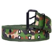 36 Units of Mens Camo Belt In Green - Mens Belts