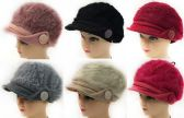 36 Units of Faux Rabbit Fur Lady's Winter Hats - Fashion Winter Hats