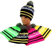 "48 Units of ""Michigan"" Knitted Hat with pompom - Winter Beanie Hats"