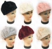 48 Units of Faux Fur Ladies Winter Hat - Winter Beanie Hats