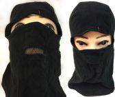 36 Units of Unisex Black Ski Hat/Mask Mesh Mouth Cover - Unisex Ski Masks