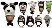 24 Units of Assorted Knit Animal Hats - Winter Animal Hats