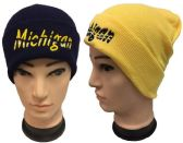 "48 Units of Knitted ""Michigan"" Winter hat - Hats With Sayings"
