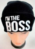 "48 Units of "" Im the Boss"" Winter Knit Hat - Winter Beanie Hats"